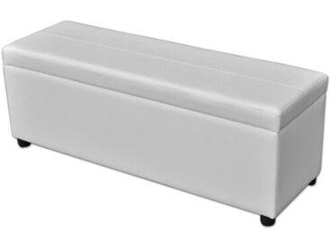 Schlafzimmerbank aus Kunststoff mit Stauraum