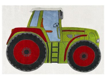 Teppich  Traktor in Grün