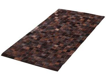 Teppich Patchwork aus Baumwolle in Braun