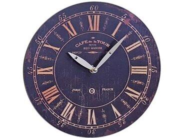 Wanduhr Durchmesser 29 Küchenuhr Wandbehang Wanddeko Uhr Cafe De La Tour