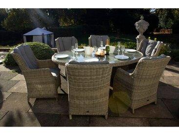 6-Sitzer Gartengarnitur Swindon mit Polster