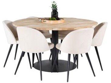 Essgruppe Caja mit 6 Stühlen
