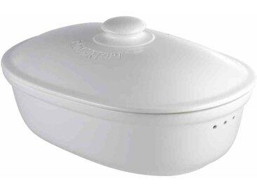 Oval Brottopf aus Naturton in weiß Syed