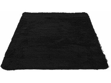Shaggy-Teppich Mock aus Schaffell in Schwarz