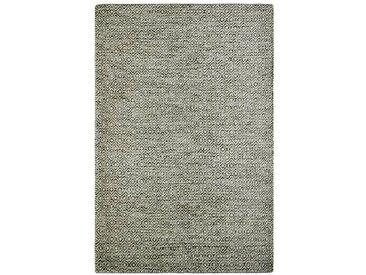 Handgefertigter Kelim-Teppich Craighead aus Wolle in Hellgrau