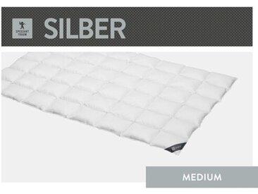 Vier-Jahreszeiten Bettdecke Silber 100 % Daunen (Medium)