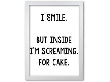 Poster Screaming for Cake