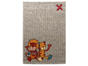 Teppich Patchwork Sweetys in Beige/Rot