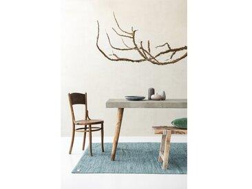 Handgefertigter Teppich aus Baumwolle in Altjade