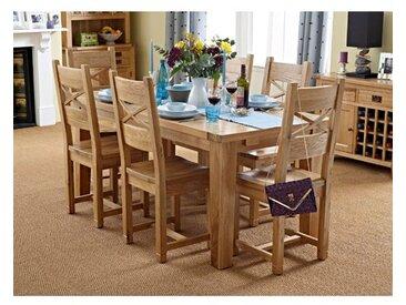 Essgruppe Frahm mit ausziehbarem Tisch und 6 Stühlen