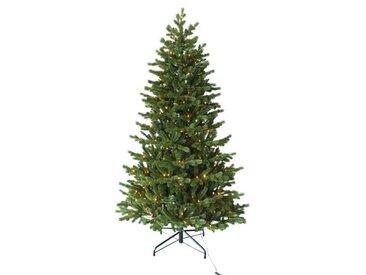 Künstlicher Weihnachtsbaum 180 cm in Grün mit 192 Leuchten in Transparent/Weiß und Ständer