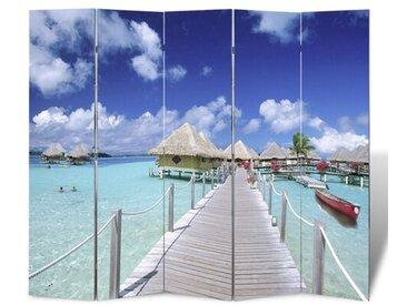 5-tlg. Raumteiler Strand, 180 x 200 cm