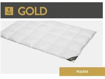 Bettdecke Gold 100 % Gänsedaunen (Warm)