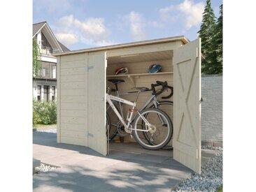 214 cm x 92 cm Fahrradgarage aus Massivholz