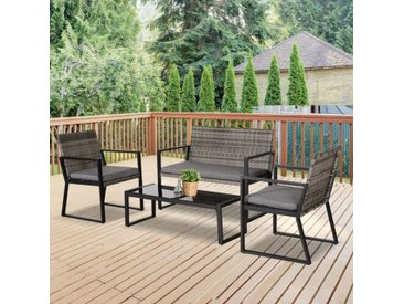 4-Sitzer-Gartengarnitur Callands mit Polster