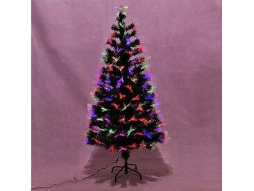Künstlicher Weihnachtsbaum 152 cm Grün mit Leuchten und Ständer