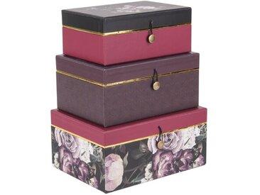 3-tlg. Boxen-Set Flowers