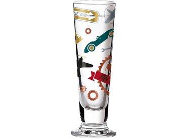40 ml Schnapsglas Black Label mit Schnapsdeckeln