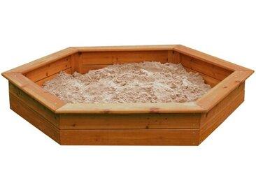 150 cm Sechseckiger Sandkasten Jon mit Schutzbezug