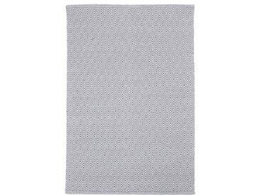 Handgefertigter Kelim-Teppich Capote aus Baumwolle in Grau