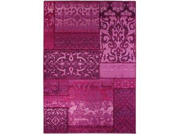 Flachgewebe-Teppich Vintage in Lila