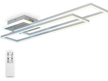 Perspections LED Deckenleuchte CCT Rahmenleuchte Schwenkbar Dimmbar Timer Nachtlicht 40W Alu