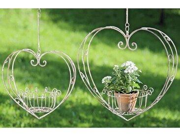 2-tlg. Blumenampel-Set Heart