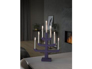 Holzleuchter 7-flammig in Transparent