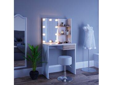 Schminktisch-Set Alvarenga mit Spiegel