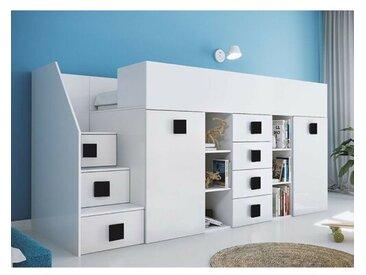 Hochbett Fairchild mit Möbel-Set, 90 x 200 cm