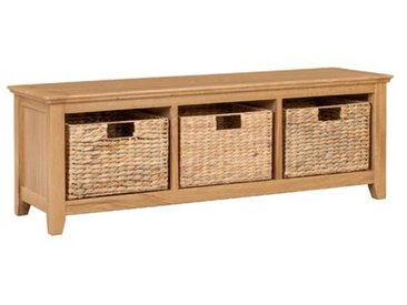 Schlafzimmerbank Madelynn mit Stauraum aus Holz