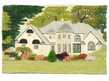 Wandbehang Flowered England Cottage