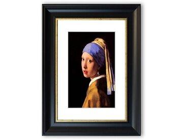 Gerahmter Fotodruck The Girl With The Pearl Earring von Vermeer