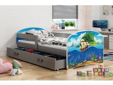 Juniorbett Alizeh Piraten mit Schublade, 80 x 160 cm