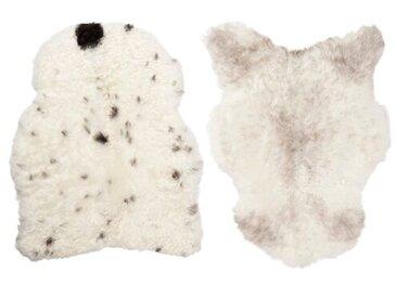 Teppich Nelly aus Schaffell in Weiß