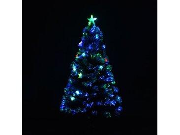 Künstlicher Weihnachtsbaum 180 cm Weiß mit 27 LED-Leuchten und Ständer