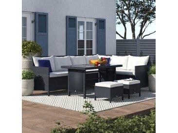 8-Sitzer Lounge-Set Aliki aus Polyrattan mit Polster