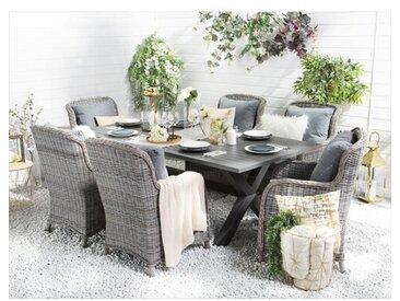 6-Sitzer Gartengarnitur Dibella mit Polster