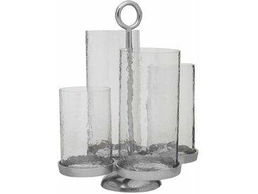Kerzenleuchter aus Glas/Metall