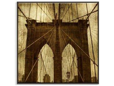 Gerahmtes Leinwandbild Brooklyn Bridge