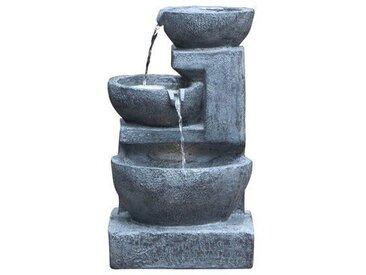 Brunnen Morganton aus Polystein mit Licht