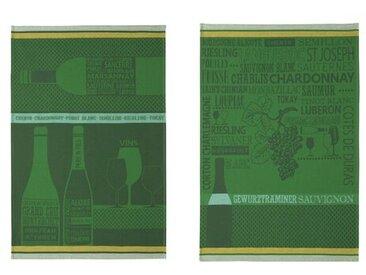 2-tlg. Geschirrtuch-Set Chardonnay White Grand Cru