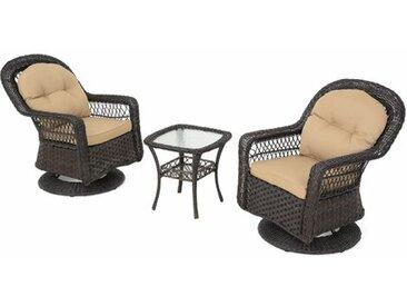2-Sitzer Lounge-Set Zyana aus Rattan