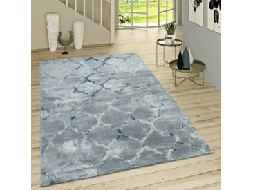 Flachgewebe-Teppich Deeter in Blau