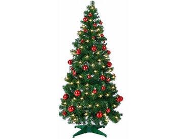 Künstlicher Weihnachtsbaum 150 cm Grün mit 50 LED-Leuchten Pop-Up