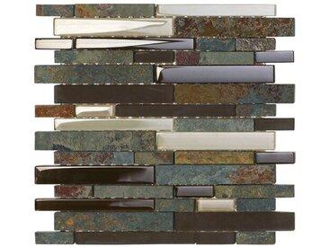 29,8 cm x 29,8 cm Stein/Glas-Mosaik Gratton