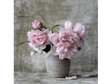 Metallbild Vase mit Blumen