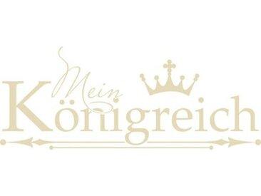 Wandtattoo Mein Königreich, Krone