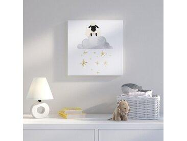 Leinwandbild Sheep Cloud and Stars