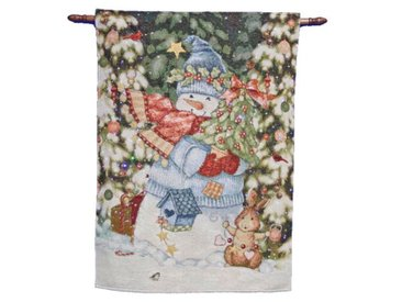 Glasfaser-Tapisserie Wrapped Up Snowman